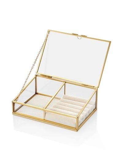 The Mia Brass Takılık 17 x 12 Cm Altın